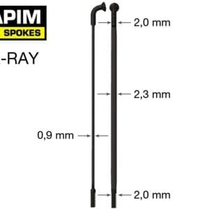 Sapim CX Ray Zwart / 204-310mm